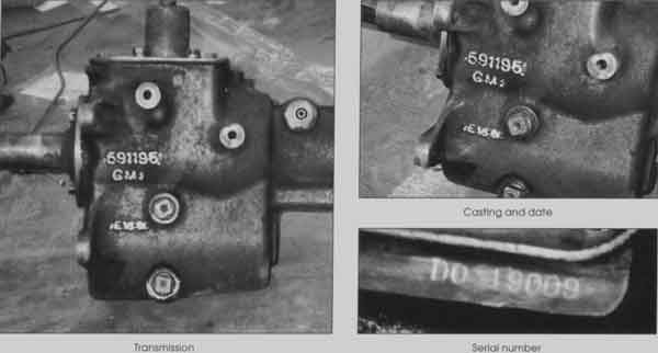 Transmission, casting and date, and serial number.